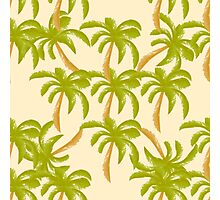 Watercolor pattern with palm tree Photographic Print