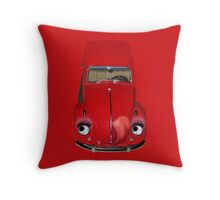 ㋡ CAR VOLKS WAGON BUG THROW PILLOW (GLAMOUR BUG)㋡  Throw Pillow