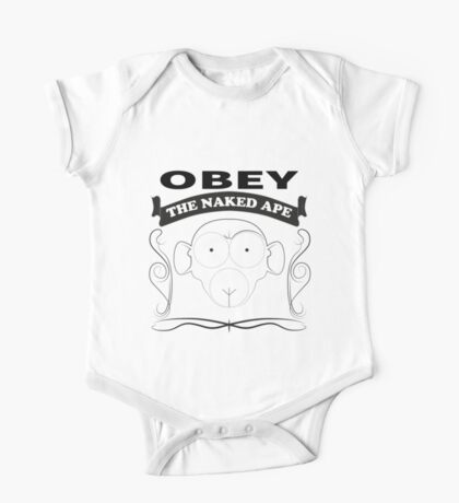Obey the naked ape One Piece - Short Sleeve
