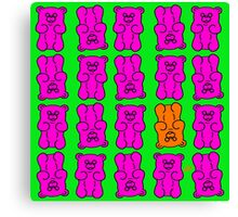 Gummy Bears Pink and Orange Canvas Print