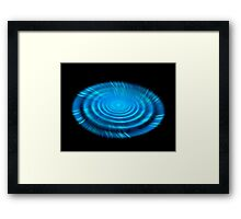 Color fractal technology 3D  Framed Print