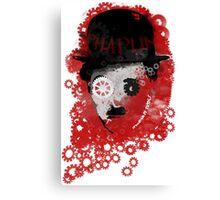Charlie Chaplin Modern Times Machine Canvas Print