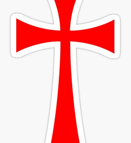 Long Cross - Knights Templar - Holy Grail - The Crusades Sticker