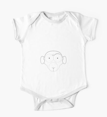 Obey the naked ape (inverted) One Piece - Short Sleeve