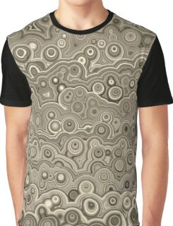 Gray Bubble Abstract Graphic T-Shirt