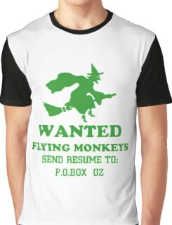 Wanted Fying monkeys Graphic T-Shirt