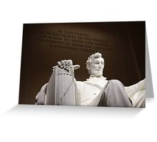 Lincoln Statue  Greeting Card