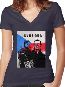 Nicholas Winton, Hero Of The Holocaust Women's Fitted V-Neck T-Shirt