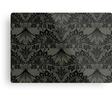Stegosaurus Lace - Black / Grey Metal Print