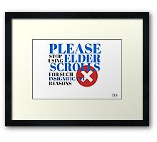 Insignificant Reason Framed Print