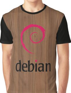 Debian walnut color wood texture Graphic T-Shirt