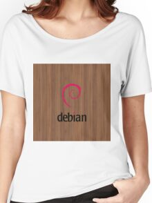 Debian walnut color wood texture Women's Relaxed Fit T-Shirt