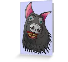 Wait... is Charlie a werewolf? Greeting Card