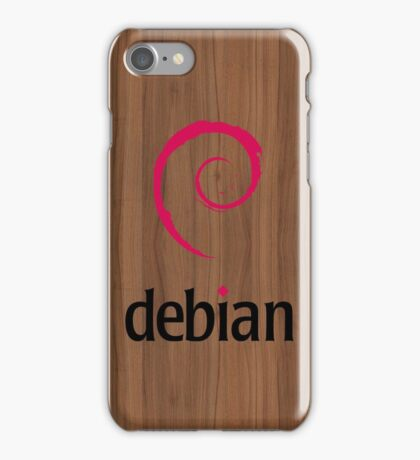 Debian walnut color wood texture iPhone Case/Skin