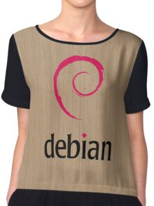 Debian white oak color wood texture Chiffon Top