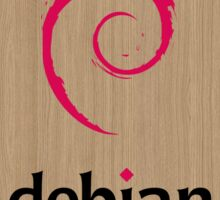 Debian white oak color wood texture Sticker