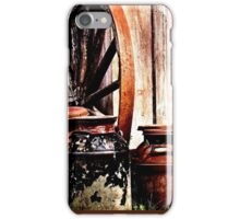 Milk Cans By The Shed iPhone Case/Skin