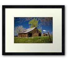 Barn in HDR-style Framed Print