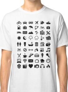Travel Icons Language Classic T-Shirt