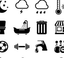 Travel Icons Language Sticker
