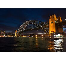 Sydney Harbour Bridge shot Night Kiribilli. Photographic Print