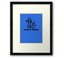 Don't Panic HitchHikers Guide to the Galaxy Framed Print