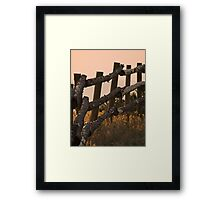 Fence at Sunrise Framed Print