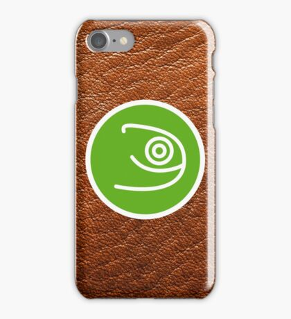 Opensuse with leather texture iPhone Case/Skin
