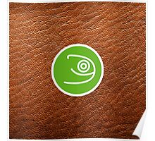 Opensuse with leather texture Poster