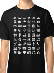 Travel Icons Language (White) Classic T-Shirt