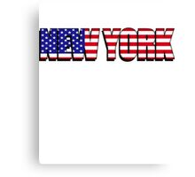 New York United States of America Flag Canvas Print