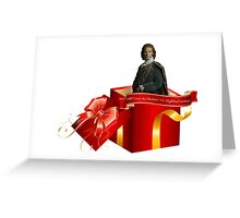 All I want for Christmas is a Highland warrior!  Greeting Card