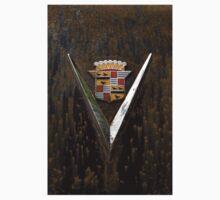 Abandoned 1948 Cadillac Emblem Detail One Piece - Short Sleeve