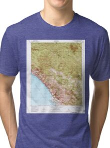 USGS TOPO Map California CA Burro Mountain 288696 1949 24000 geo Tri-blend T-Shirt