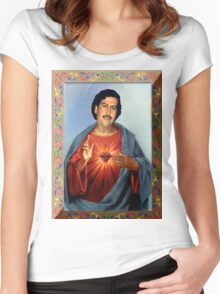 Saint Pablo Escobar Women's Fitted Scoop T-Shirt