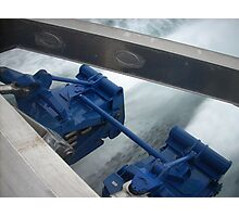 High speed ferry water jets Photographic Print