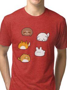 Cute Animal Blobs! Tri-blend T-Shirt