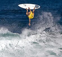 Kelly Slater at 2010 Billabong Pipe Masters In Memory Of Andy Irons by Alex Preiss