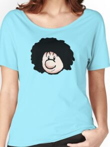 Baby Mario with an Afro  Women's Relaxed Fit T-Shirt