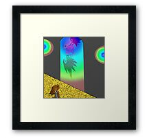 RR A Glance Though Rainbow Glass Framed Print