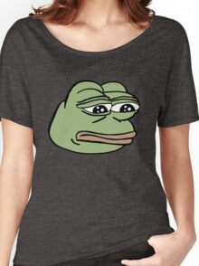 RARE PEPE Sad Frog Women's Relaxed Fit T-Shirt