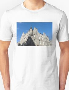 Silver City Architecture - Aberdeen Granite Facade with a Whimsical Tower Unisex T-Shirt