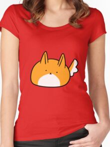 Pointy-Eared Dog Blob Women's Fitted Scoop T-Shirt