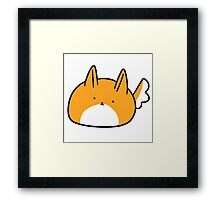 Pointy-Eared Dog Blob Framed Print