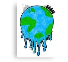 Melting World. Canvas Print