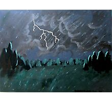 Storm in the Back Field Photographic Print