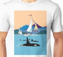 Sailing with the Orcas Unisex T-Shirt