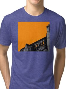Powerhouse Wall | Orange Tri-blend T-Shirt