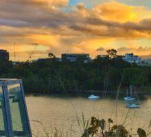 Brisbane River Sunset Sticker