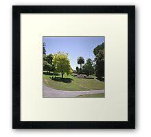 Flower Clock and Lawns, Hobart Botanical Gardens Framed Print